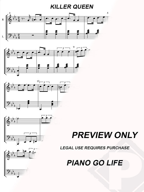 Queen - Killer Queen Sheet Music