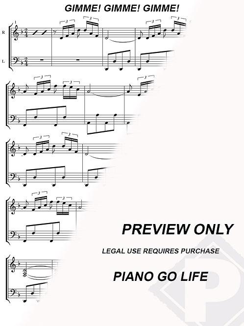 ABBA- Gimme! Gimme! Gimme! Sheet Music