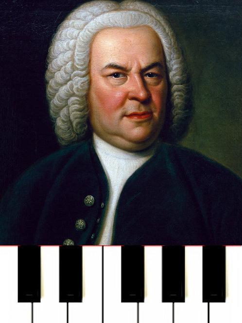 J. S. Bach Little Prelude in C minor BWV 999 MIDI