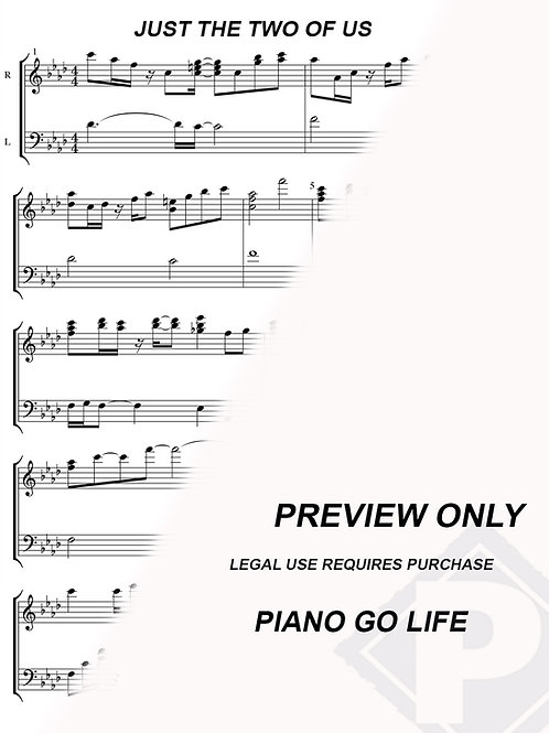 Grover Washington Jr. - Just the Two of Us Sheet Music
