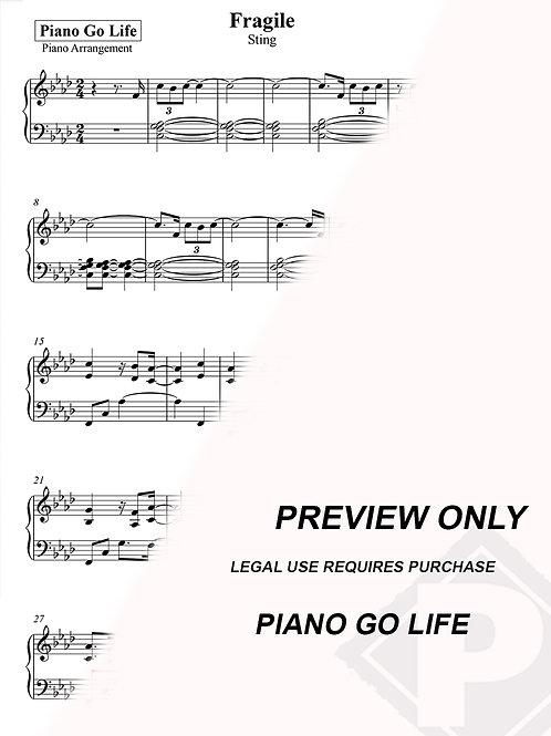Sting - Fragile Sheet Music
