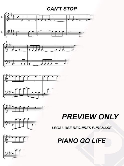 Red Hot Chili Peppers - Can't Stop Sheet Music