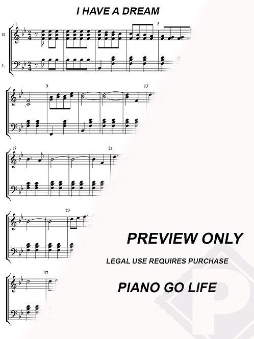 ABBA - I Have A Dream Sheet Music