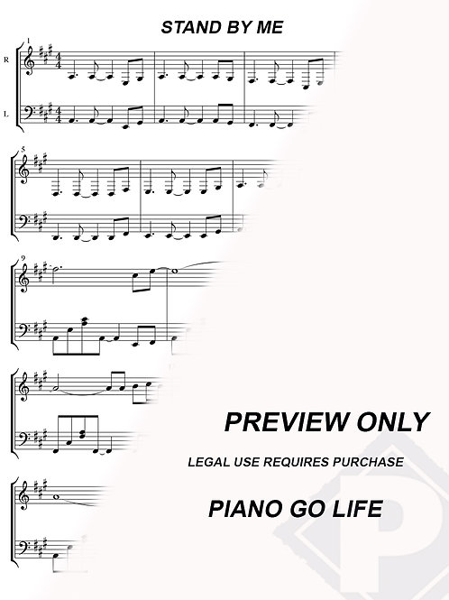 Ben E. King - Stand By Me Sheet Music