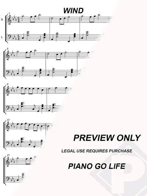 Wind - Naruto Ending 1 Sheet Music