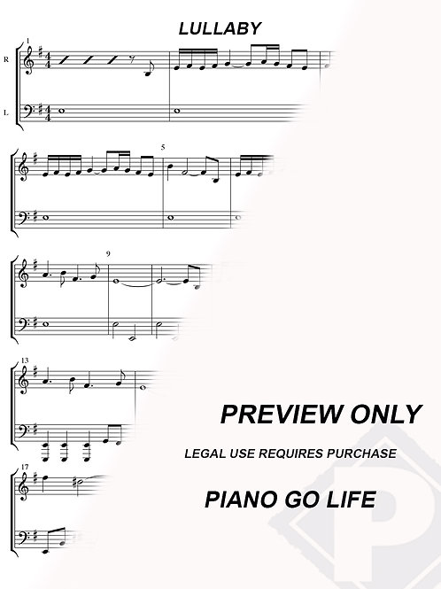 The Chronicles Of Narnia Lullaby Sheet Music