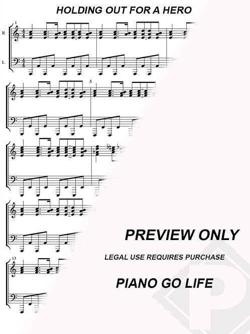 Bonnie Tyler - Holding Out For A Hero Sheet Music