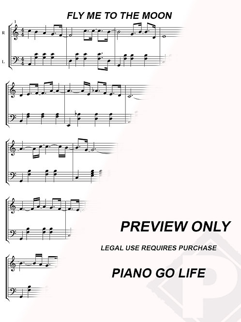 Frank Sinatra - Fly Me To The Moon Sheet Music