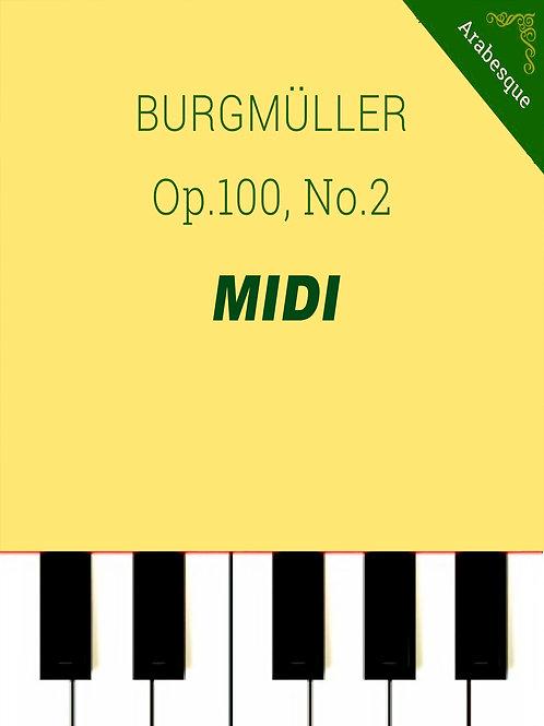 L'arabesque - Burgmüller op.100 no. 2 MIDI
