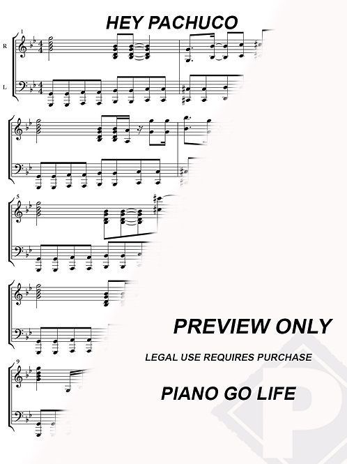 Hey Pachuco - The Mask Sheet Music