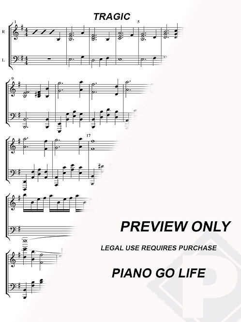 Naruto Shippuden OST - Tragic Sheet Music