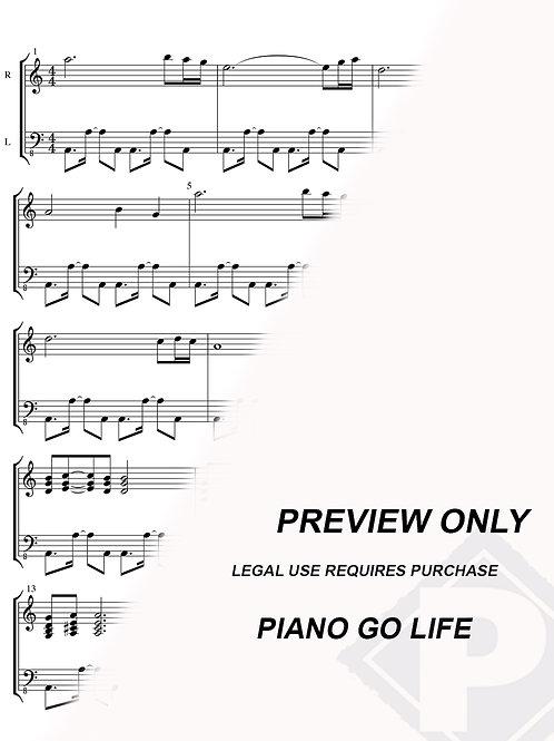 Naruto's Main Theme Sheet Music
