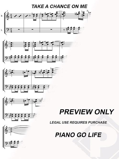ABBA - Take A Chance On Me Sheet Music