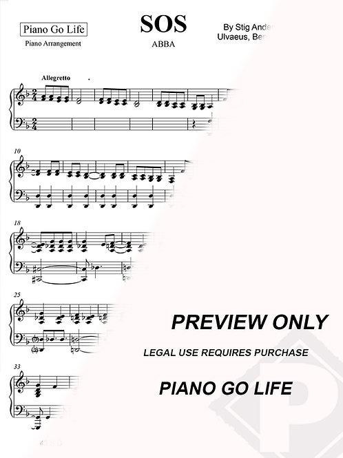 ABBA - SOS Sheet Music