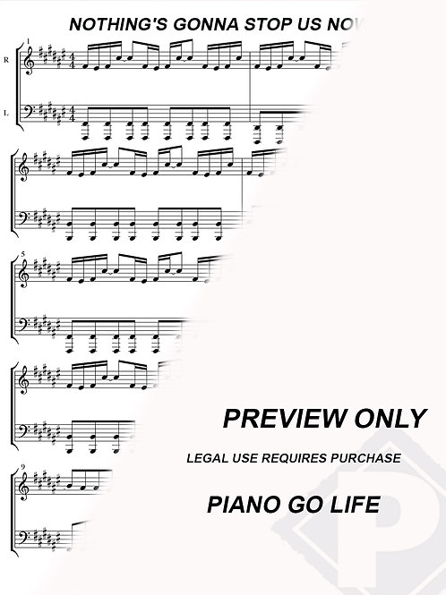 Starship - Nothing's Gonna Stop Us Now Sheet Music
