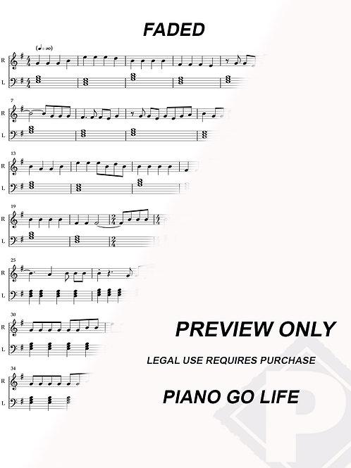 Alan Walker - Faded Sheet Music