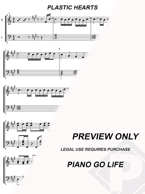 Miley Cyrus - Plastic Hearts Sheet Music