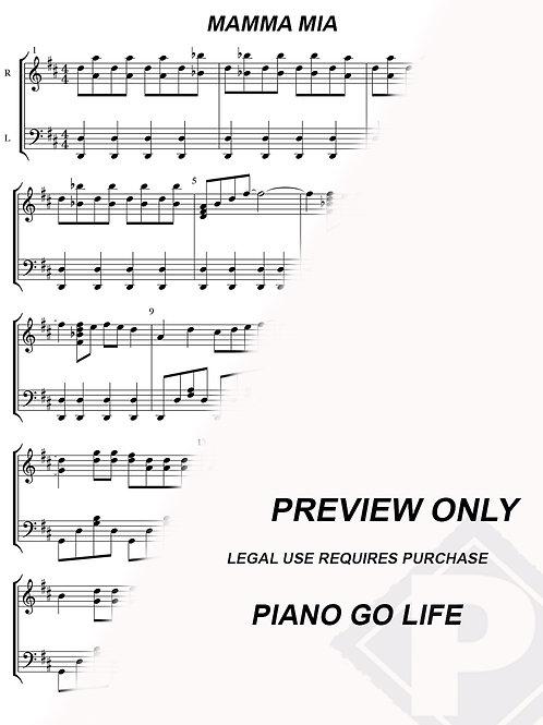 ABBA - Mamma Mia Sheet Music