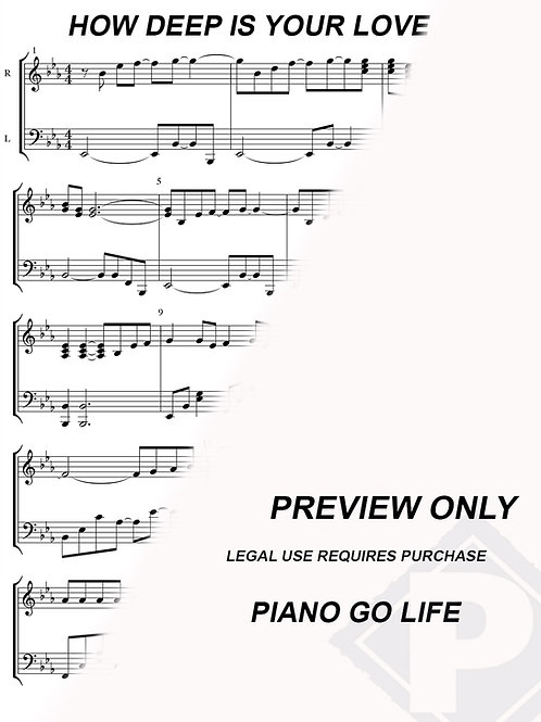 Bee Gees - How Deep Is Your Love Sheet Music