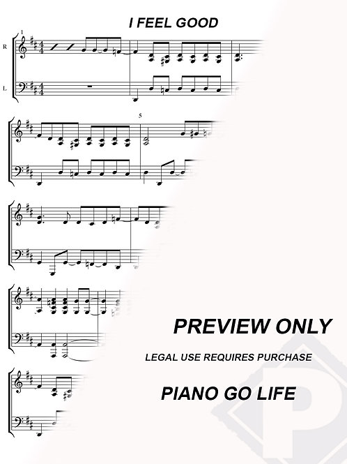 James Brown - I Feel Good Sheet Music