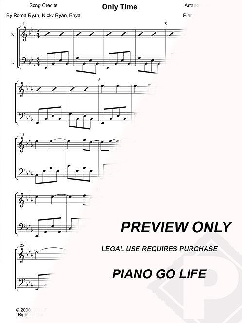 Enya - Only Time Sheet Music