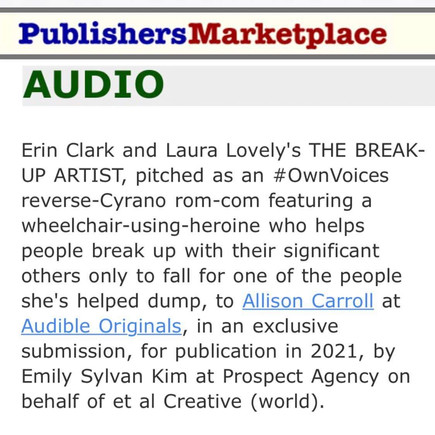 Erin Clark writer has another publishing deal!