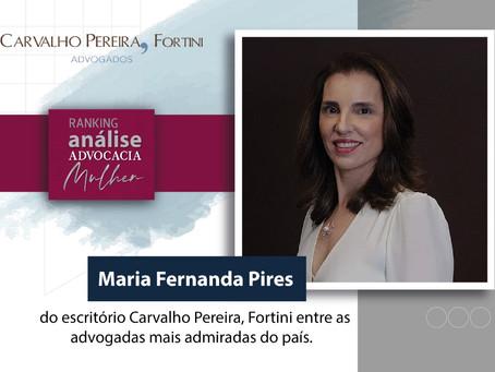 Maria Fernanda Pires entra para o ranking Análise Advocacia Mulher
