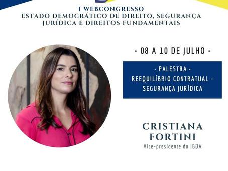 "CRISTIANA FORTINI MINISTRA PALESTRA SOBRE ""REEQUILÍBRIO CONTRATUAL – SEGURANÇA JURÍDICA"""
