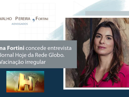 Cristiana Fortini concede entrevista ao Jornal Hoje