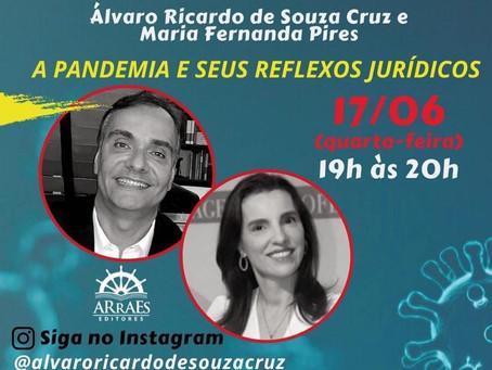 """LIVE DE LANÇAMENTO DO LIVRO """"A PANDEMIA E SEUS REFLEXOS JURÍDICOS"""""""
