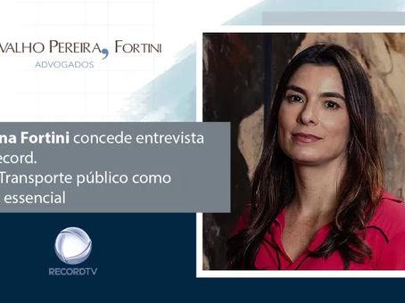 Entrevista. Cristiana Fortini fala sobre transporte como serviço essencial
