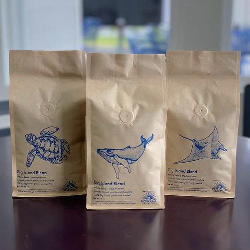 1lb 100% Big Island Grown & Roasted While Bean Coffee