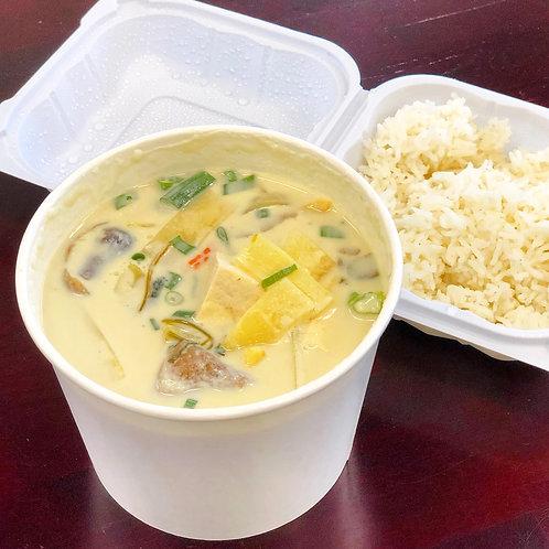 Vegan Thai Green Curry & Rice