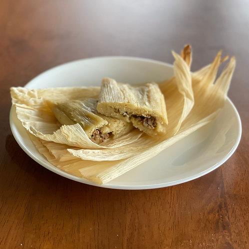 """Vegan/ GF """"Chick'n"""" Tamales (4-pack)"""