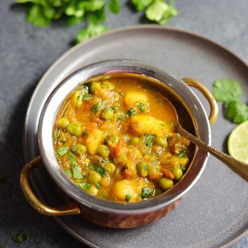 Vegan/ GF Aloo Mattar Curry Curry 16oz (NO RICE)