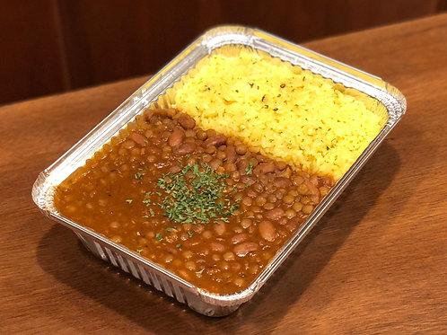 Vegan & GF Dal Makhani and Turmeric Rice