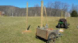 8' deer fence under construction