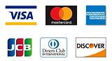 当店で使えるクレジットカードブランド