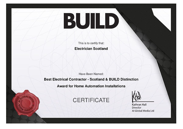 ElectricianScotland Award Certificate.jp