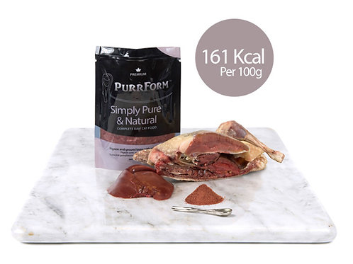 Minced Pigeon & Ground Bone with Rabbit Liver (Adult Cat)