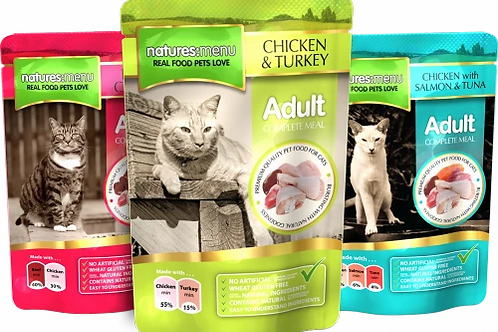 NATURES MENU CAT POUCHES  MULTIPACK FOR ADULT CATS