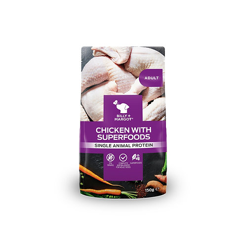 Billy + Margot Chicken with Superfoods Dog Food Pouch 150g