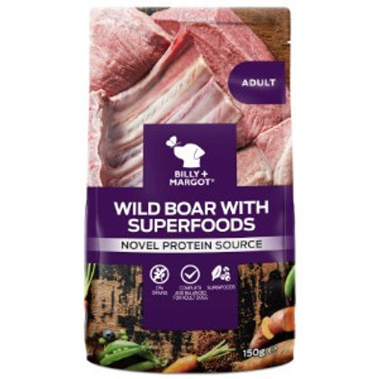 Billy + Margot Wild Boar with Superfoods Dog Food Pouch 150g