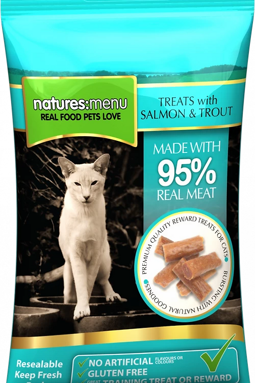 NATURES MENU TREATS  SALMON AND TROUT FOR CATS