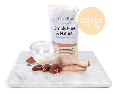 Complete weaning paste for kittens. Chicken with ground bone, offal & pasteurise