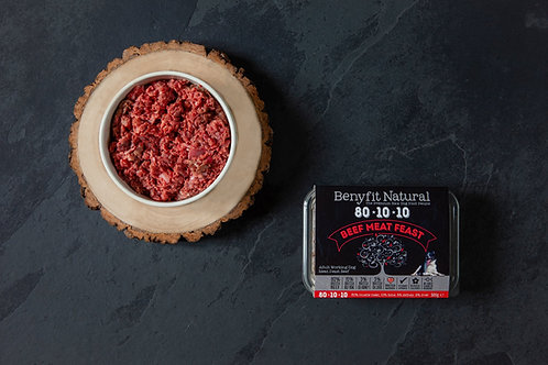 80*10*10 Beef Meat Feast Adult Raw Working Dog Food