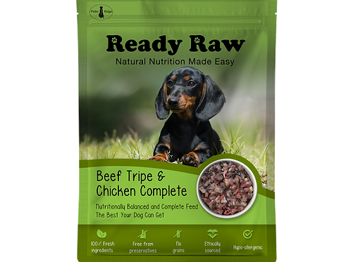 Ready Raw Beef Tripe and Chicken Complete (200g)