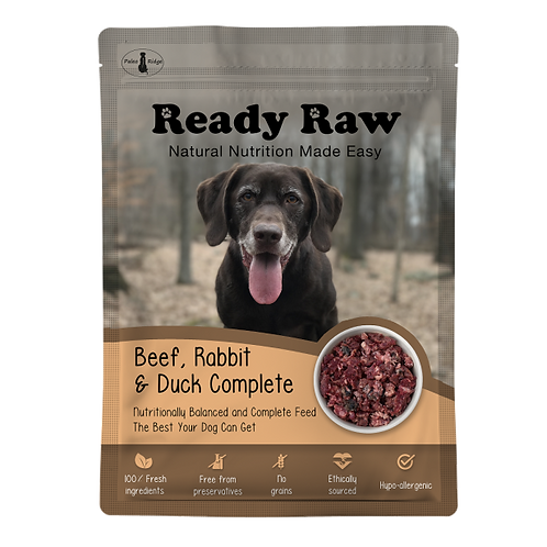 Ready Raw Beef, Rabbit and Duck Complete (200g)