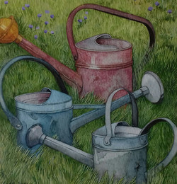 Three Watering Cans
