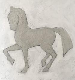 Grey Horse - by Linda Owen